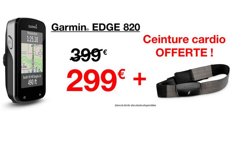 Destockage GPS Garmin Edge 820 avec ceinture